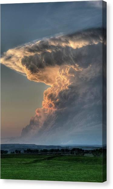 Montana Thunderstorm Canvas Print