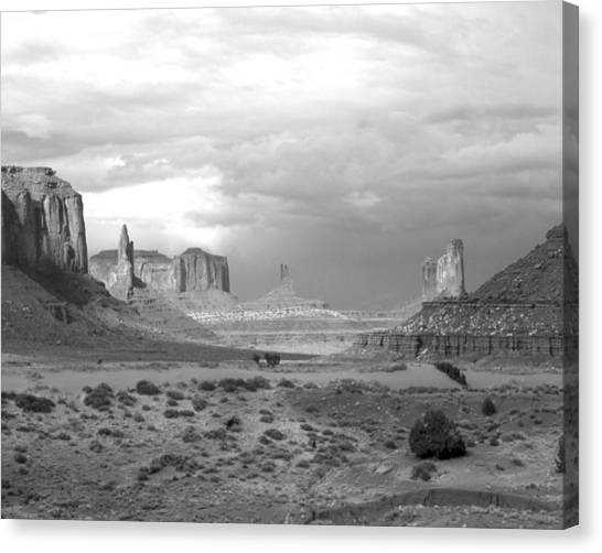 Monument Valley Afternoon Canvas Print by Troy Montemayor