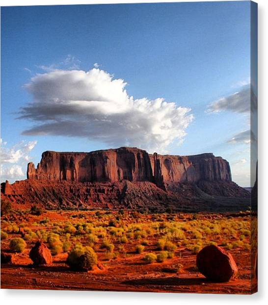 Monument Valley Canvas Print by Luisa Azzolini