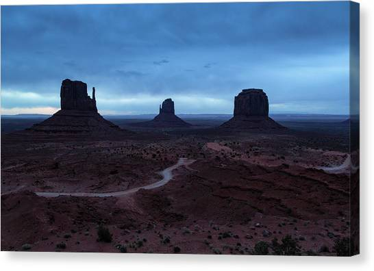 Canvas Print featuring the photograph Monument Valley by Stuart Gordon