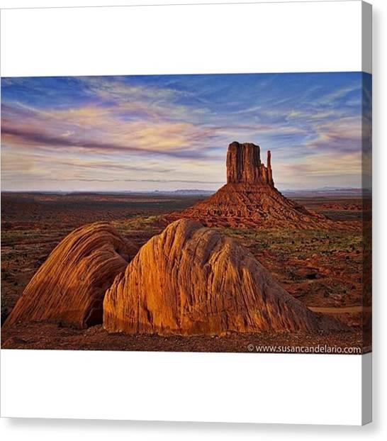 Arizona Canvas Print - Monument Valley West Mitten by Susan Candelario