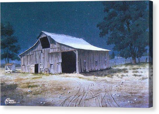 Moonlit Barn Canvas Print