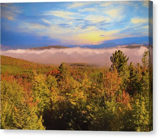 Morning Autumn Landscape Northern New Hampshire Canvas Print