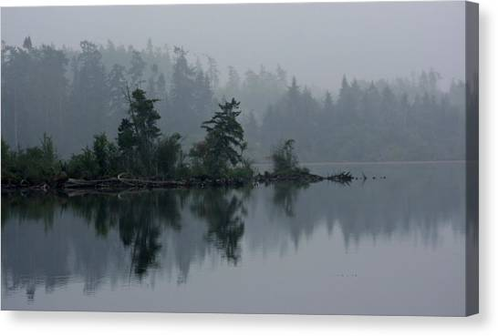 Morning Fog Over Cranberry Lake Canvas Print
