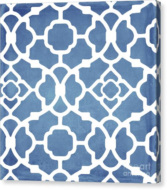 Coastal Art Canvas Print - Moroccan Blues by Mindy Sommers