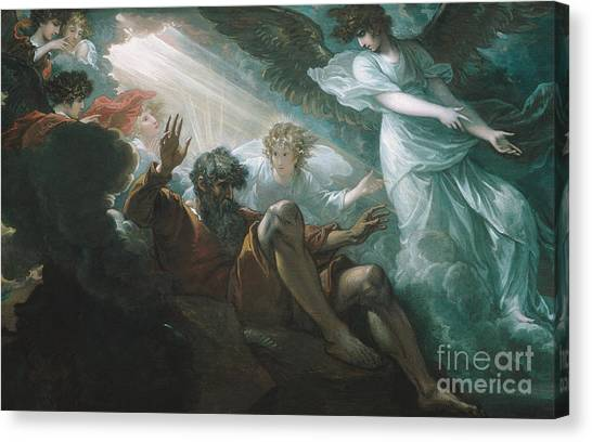 Torah Canvas Print - Moses Shown The Promised Land by Celestial Images