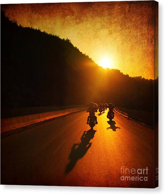 Motorcycle Ride Canvas Print