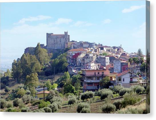 Mount Etna Canvas Print - Motta Sant'anastasia - Sicily by Joana Kruse