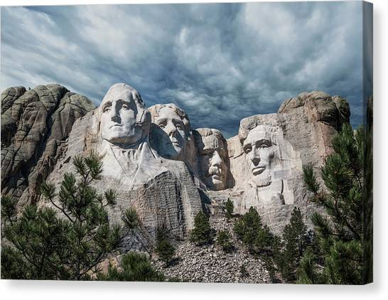 Washington Nationals Canvas Print - Mount Rushmore II by Tom Mc Nemar