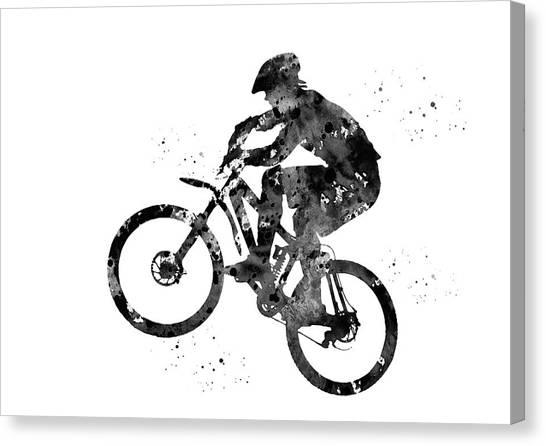 Dirt Bikes Canvas Print - Mountain Bike by Erzebet S