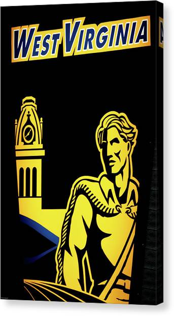 West Virginia University Wvu Canvas Print - Mountaineer Proud by Aaron Geraud