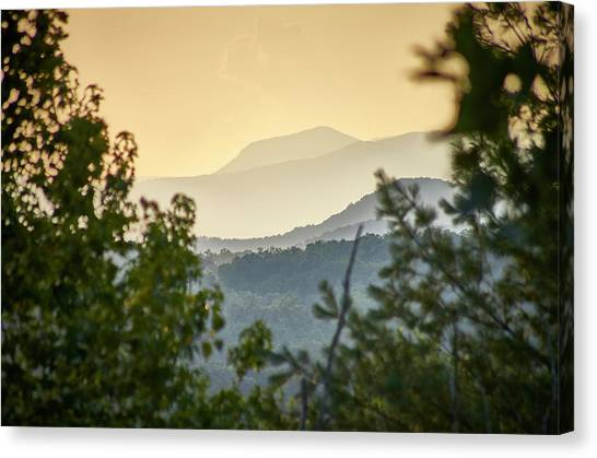 Canvas Print featuring the photograph Mountains In The Distance by Willard Killough III