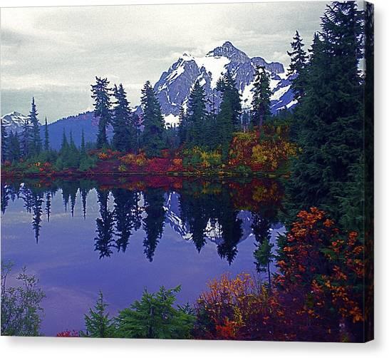 Mt. Shuksan - Picture Lake Canvas Print