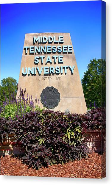 Middle Tennessee State University Canvas Print - Mtsu Murfreesboro Tn, Usa by Chris Smith