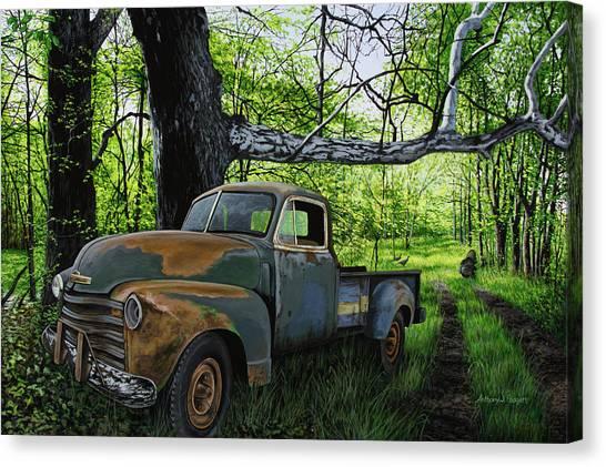 The Ol' Mushroom Hauler Canvas Print