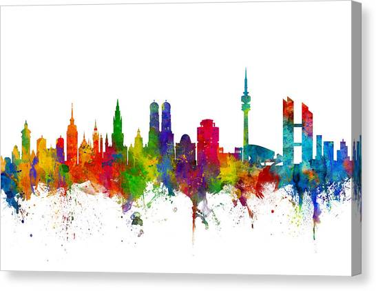 German Canvas Print - Munich Germany Skyline by Michael Tompsett