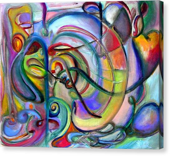 Music Abstract Canvas Print by Kathy Dueker
