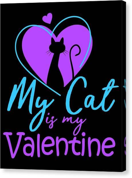 Ocicats Canvas Print - My Cat Is My Valentine1 by Kaylin Watchorn