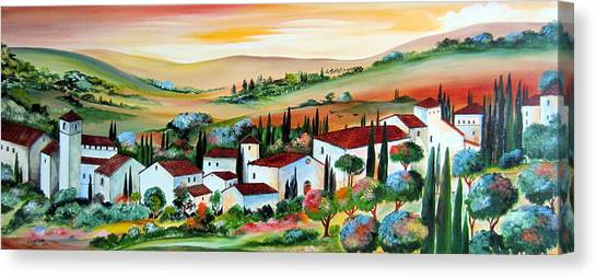 My Dream Village Canvas Print