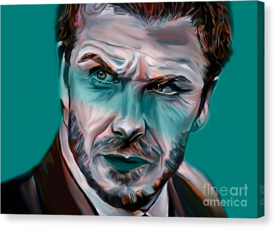 David Beckham Canvas Print - My Name Is David Beckham  by Felix Von Altersheim