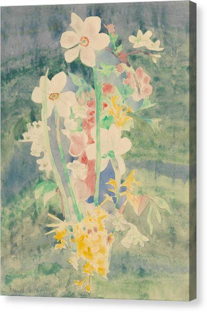 Precisionism Canvas Print - Narcissi by Charles Demuth