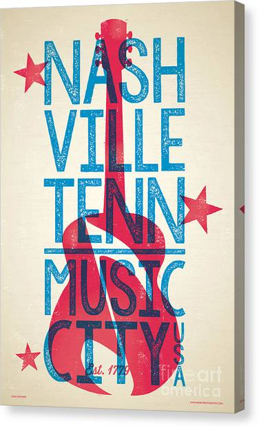 Johnny Cash Canvas Print - Nashville Tennessee Poster by Jim Zahniser