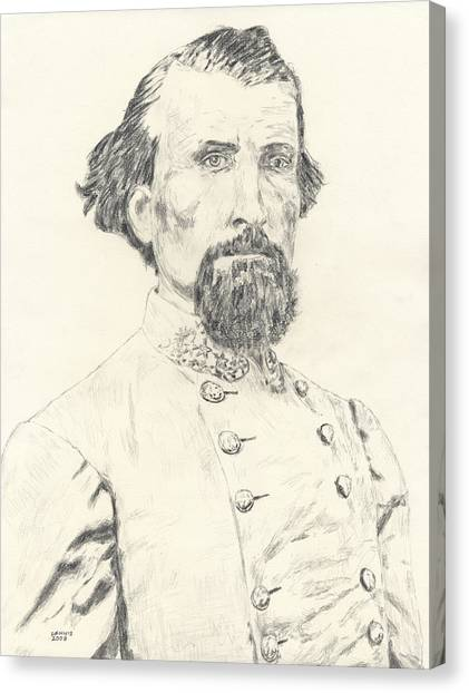 Nathan Bedford Forrest Canvas Print by Dennis Larson