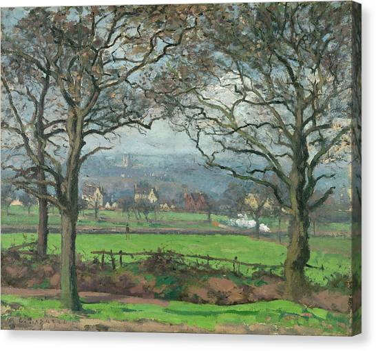 Camille Canvas Print - Near Sydenham Hill by Camille Pissarro