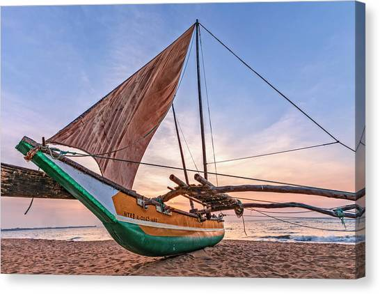 Catamarans Canvas Print - Negombo - Sri Lanka by Joana Kruse