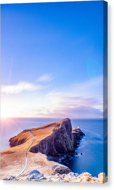 Neist Point Lighthouse At Dawn Canvas Print