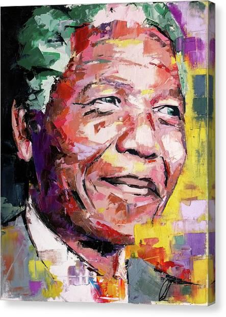 Nobel Canvas Print - Nelson Mandela by Richard Day