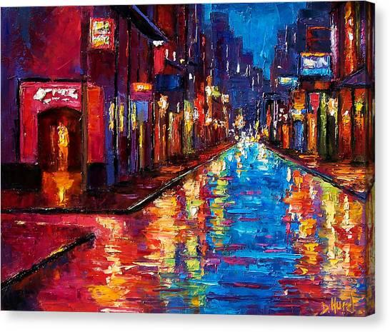 Bourbon Canvas Print - New Orleans Magic by Debra Hurd