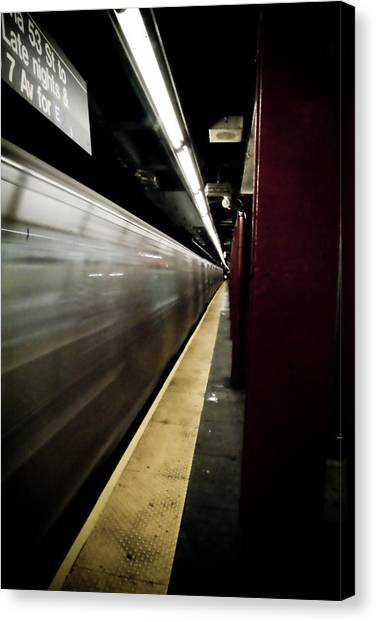 New York City Subway Canvas Print by Patrick  Flynn