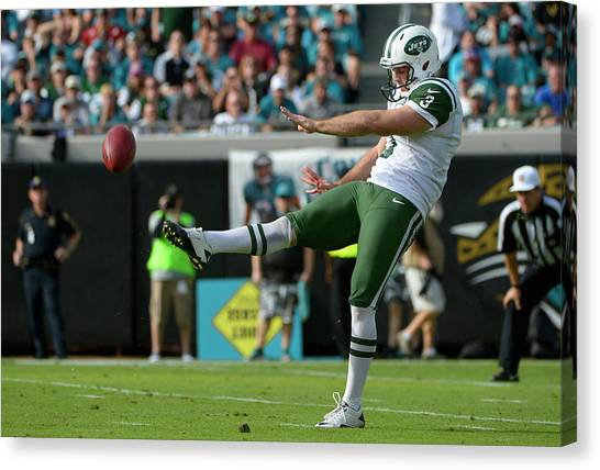 Football Players Canvas Print - New York Jets by Super Lovely