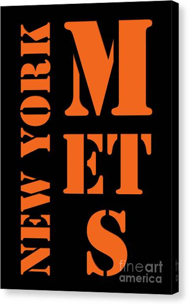 Citi Field Canvas Print - New York Mets Typography by Pablo Franchi