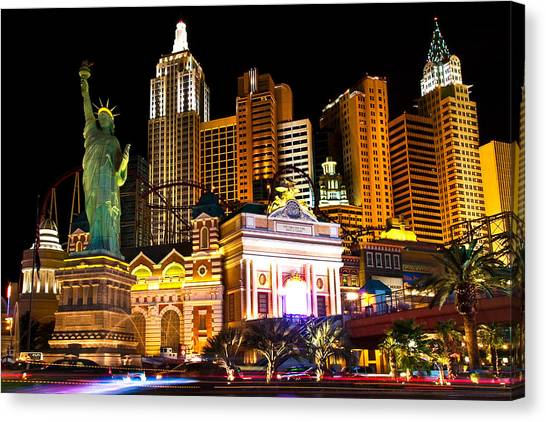 New York  New York Casino Canvas Print by James Marvin Phelps