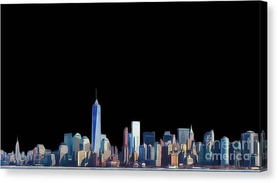 City Landscape Canvas Print - New York Skyline by John Springfield