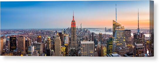 New York Skyline Panorama Canvas Print