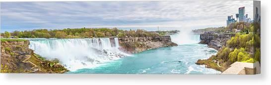 Horseshoe Falls Canvas Print - Niagara Falls Panorama by Melanie Viola