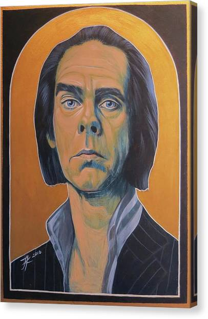 Nick Cave Canvas Print by Jovana Kolic