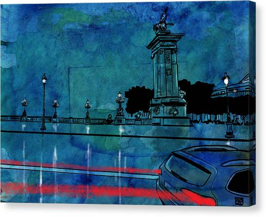 Landscape Canvas Print - Nightscape 04 by Giuseppe Cristiano