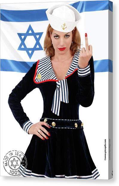 Jewish Humor Canvas Print - No Comment by Pin Up TLV  sc 1 st  Pixels & Jewish Humor Canvas Prints   Pixels