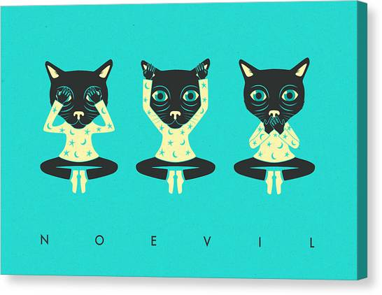 See Canvas Print - No Evil by Jazzberry Blue