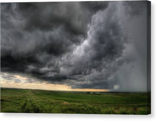 North Dakota Thunderstorm Canvas Print