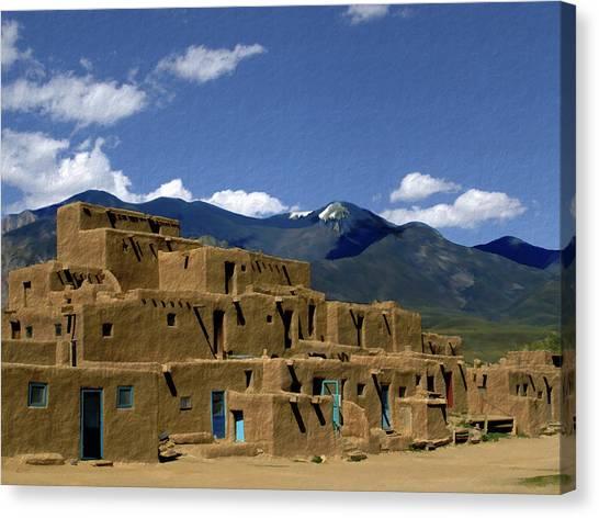 North Pueblo Taos Canvas Print