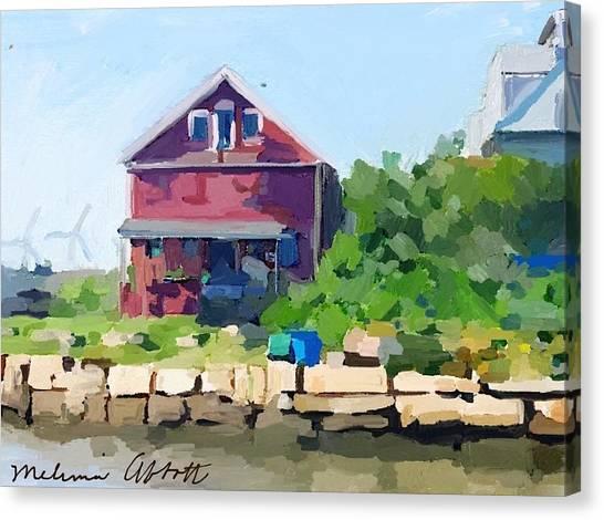 North Shore Art Association At Reed's Wharf Canvas Print