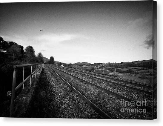 Brexit Canvas Print - North South Railway Line At Jonesborough Crossing The Irish Border  by Joe Fox