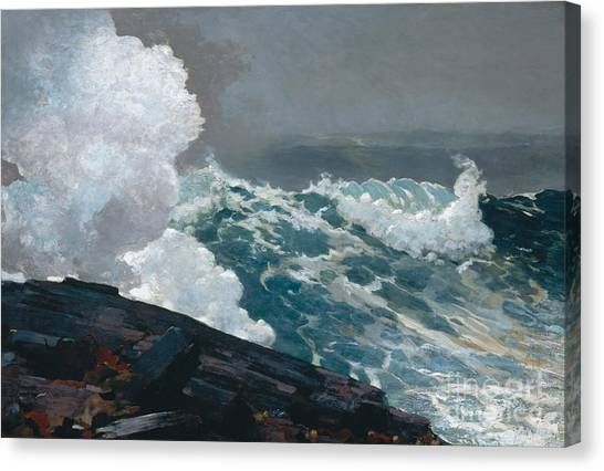 Cyclones Canvas Print - Northeaster, 1895 by Winslow Homer