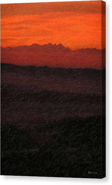 Ocean Life Canvas Print - Not Quite Rothko - Blood Red Skies by Serge Averbukh