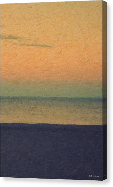 Ocean Life Canvas Print - Not Quite Rothko - Breezy Twilight by Serge Averbukh